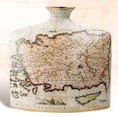 "Porcelain Nautical Vase - 13"" Square"