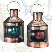 """Port and Starboard Nautical Oil Lanterns 9"""" - Set of 2"""