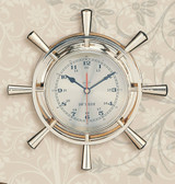 Premium Brass Ship Wheel Clock