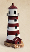 Red & White Lighthouse Candle Holder
