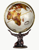 "Replogle 12"" Bronze Metallic Atlas Globe"