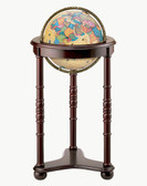 "Replogle Lancaster 12"" Antique Aluminum Globe"
