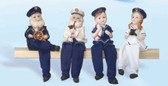Sailors and Children Figurines - Set of 4