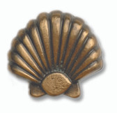 Set of 5 Sea Shell Nautically Themed Cabinet Hardware