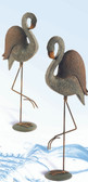 Fancy Pair of Polystone Yard Flamingos - Set of 2