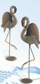 Fancy Pair of Polystone Yard Flamingos - Set of 2