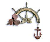 Decorative Wooden Ship Wheel Hanger