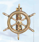 Brass Door Knocker - Ship Wheel