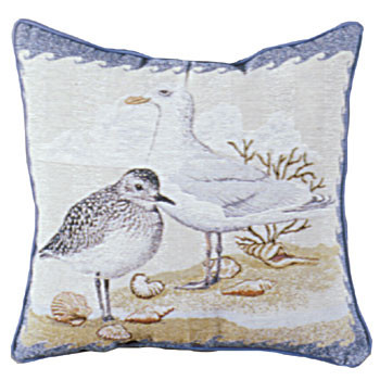 Decorative Nautical Beach Themed Throw Pillow Shore Birds New Beach Themed Pillows Decorative