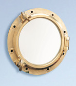 Heavy Duty Nautical Brass Porthole Window 16""