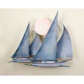 Nautical Sunset Sail Wall Sculpture