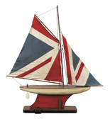Union Jack Pond Yacht Model Ship