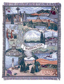 Decorative Nautical Beach Throw Blanket - State of Washington