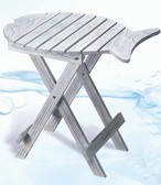 White Washed Wooden Folding Fish Table