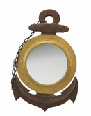 Wooden Anchor Mirror-nautical furnishings