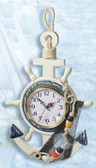 Decorative Nautical Wooden Anchor Clock