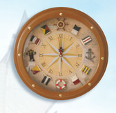 Nautical Compass Rose Clock