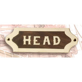 Brass and Wood Nautical Wall Plaque - Head