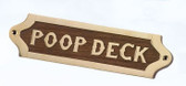 Brass and Wood Nautical Wall Plaque - Poop Deck