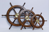 "Decorative Standard Wooden Ship's Wheel 24"""