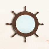 "17.25"" Wooden Ships Wheel Mirror"