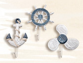 "8"" Anchor, Ship Wheel & Propeller Hanger Set"