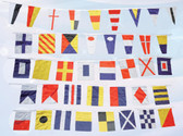 Nautical Flags Decor on String - Set of 40