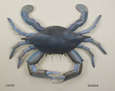 Giant Blue Claw Crab Decor Wall Sculpture