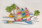 Paradise Found (Hobie Cats on Island) Wall Sculpture