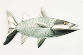 Barracuda Glass and Stainless Steel Wall Sculpture