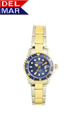 Del Mar Women's 200M Stainless Steel Blue Dial Sport Watch - Two Tone