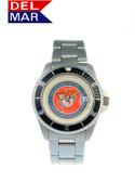 Del Mar Men's Marine Military Watch- Stainless Steel