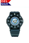 Del Mar Men's Navy Military Watch- Black Case