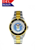 Del Mar Men's Air Force Military Watch- Two Tone