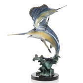 Keys Double - Marlin and Sailfish Sculpture