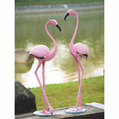 Pink Flamingo Outdoor Decor (Pair)