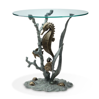 Nautical End Table   Seahorse