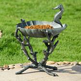 Seahorse Birdbath