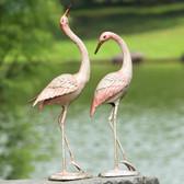 Flamboyant Crane Garden Pair