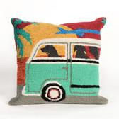 Beach Trip Sunset Pillow
