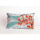 CORAL DECOR - WAVE AQUA PILLOW