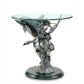Nautical End Table - Dolphin Seaworld