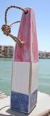 "Nautical Wood Buoy 15""  Red/White/Blue"
