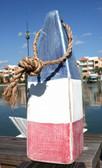 "Nautical Wood Buoy 12""  Red/White/Blue"