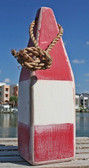 "Nautical Wood Buoy 12""  Red/White/Red"