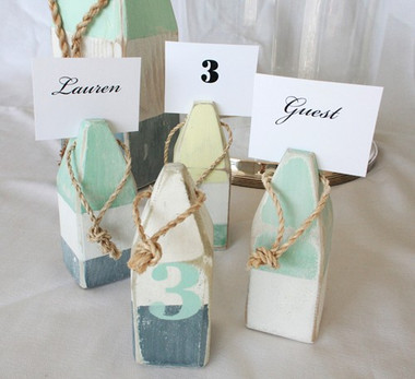 Buoy Place Card Holders - Set of 4 - Pastel Colors