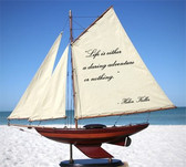 Sailboat With Quote: Life Is Either...