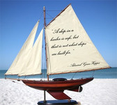 Sailboat With Quote: A Ship In A Harbor...
