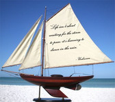 Sailboat With Quote: Life Isn't About Waiting...