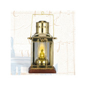 Brass Cargo Touch Lantern with base 16""